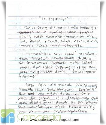 essay dalam bahasa indonesia Essay (dalam bahasa indonesia esai) adalah karangan prosa yang membahas suatu masalah secara sepintas lalu dari sudut pandang pribadi penulisnya.