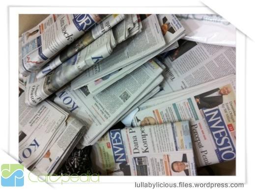 Mengolah Kertas Koran Menjadi Kerajinan