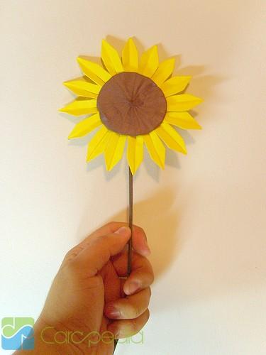 Cara Membuat Origami Bunga Kertas Kerajinan Carapedia