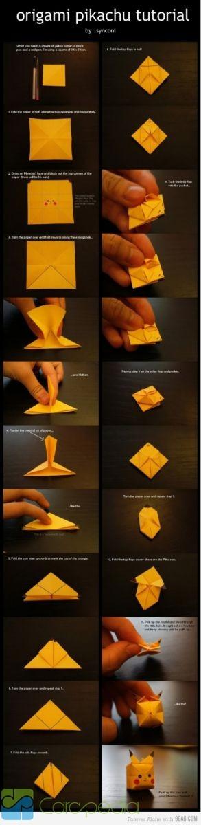 Cara Membuat Origami Pokemon Pikachu