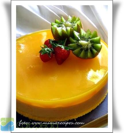 puding buah peach bahan puding buah peach
