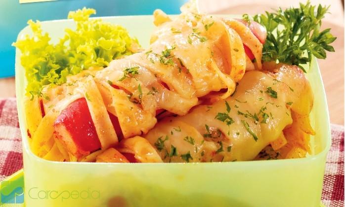 yuk memasak sosis gulung fettuccine     carapedia