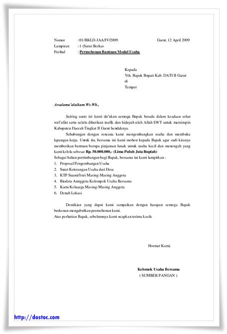 Contoh Surat Permohonan Bantuan Dana Surat Carapedia