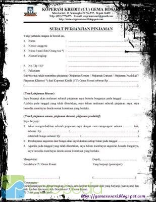 Contoh Surat Permohonan Pinjaman Kredit